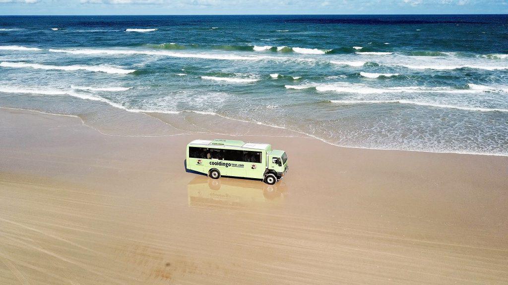 Cool Dingo Bus on 75 Mile Beach
