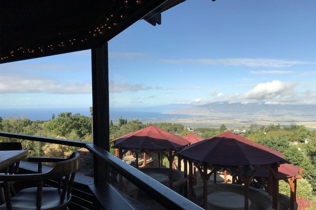 Kula Lodge Restaurant View