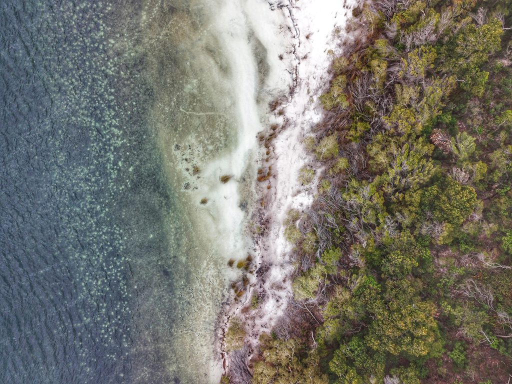 Lake McKenzie from above