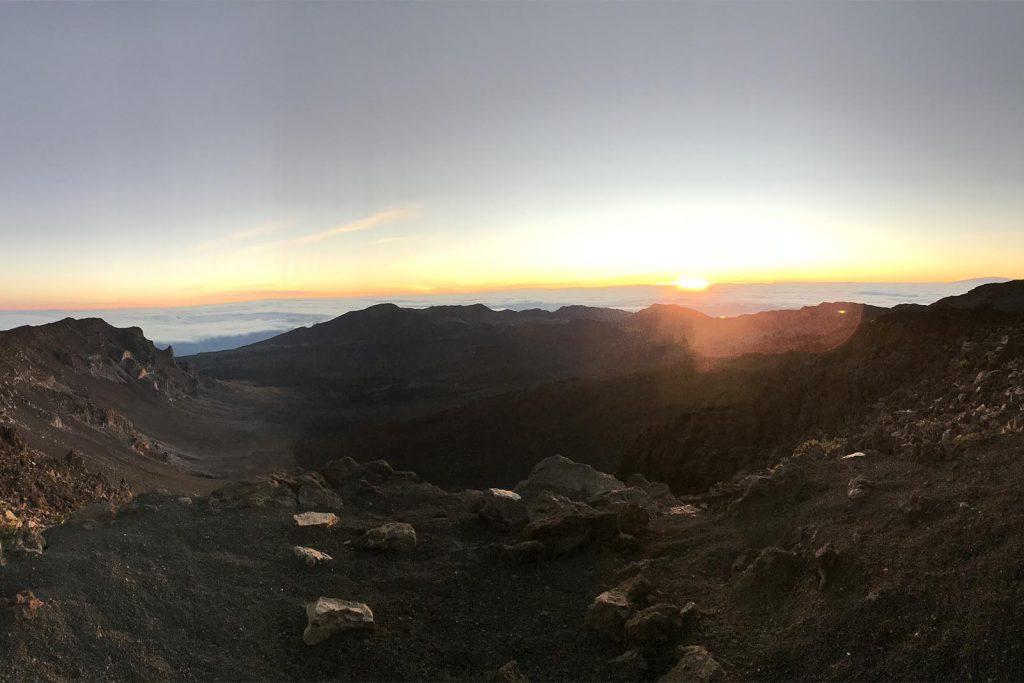 Maui Haleakala Sunrise Over Crater