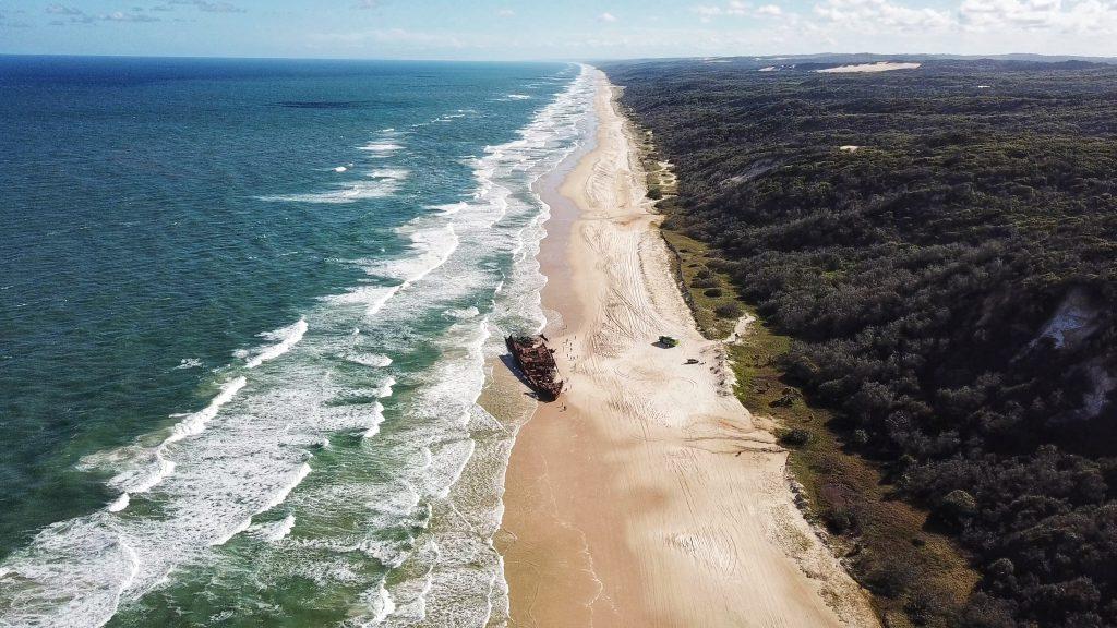Maheno Shipwreck on Fraser Island