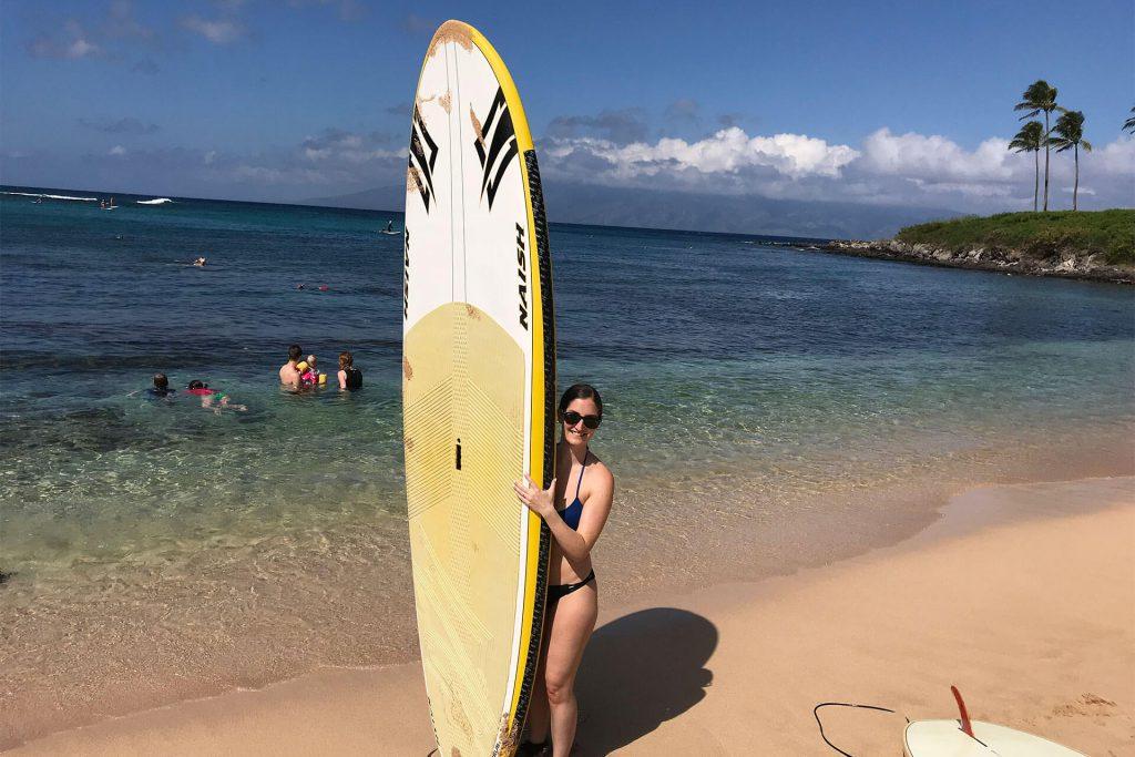 Maui Danielle Holding Paddle Board