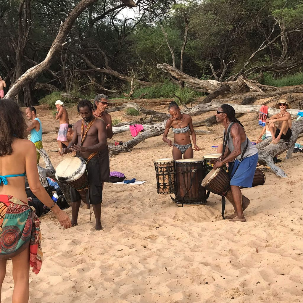Maui Drum Circle on Beach