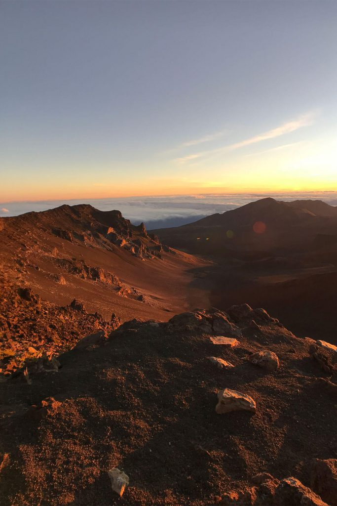 Maui Haleakala Hike Terrain at Sunrise