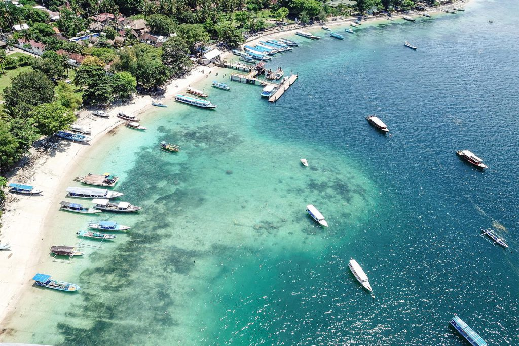 Gili Air Harbour from Above
