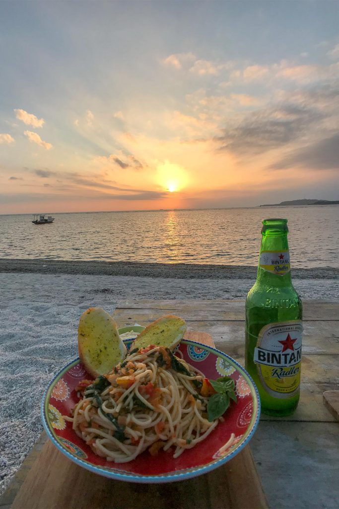 Sunset Dinner at Gili Lumbung